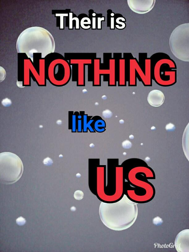 Their Is NOTHING like US