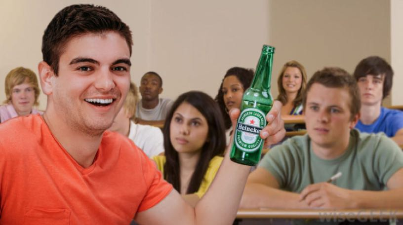 First Time Drunk Is in History Class