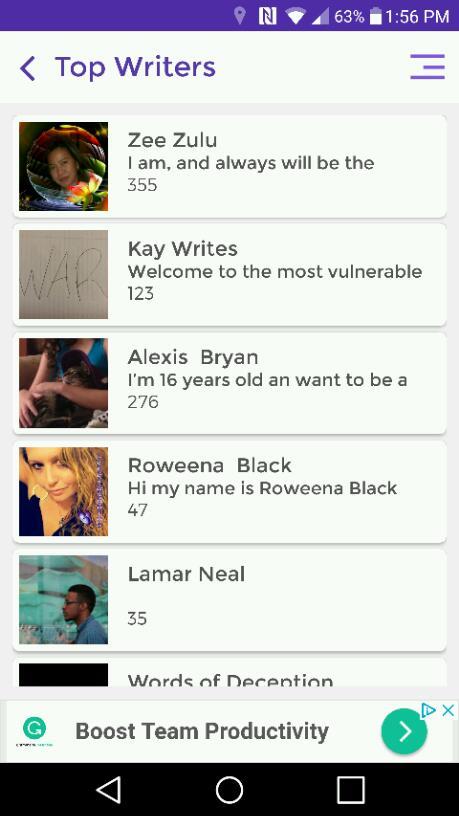 Top Writers 10/3