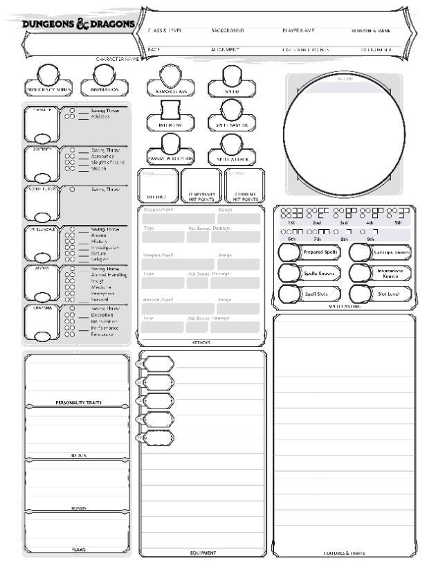 D&D Character Template/Sheet
