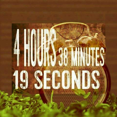4 hours 38 minutes 19 seconds