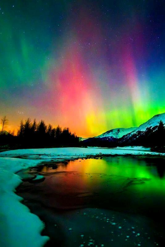 Rainbow in the night 💓