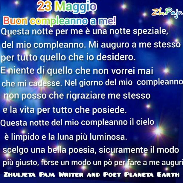 23 Maggio Buon compleanno a  me!