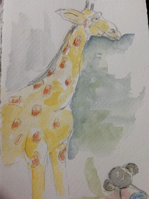 The giraffe and the mouse