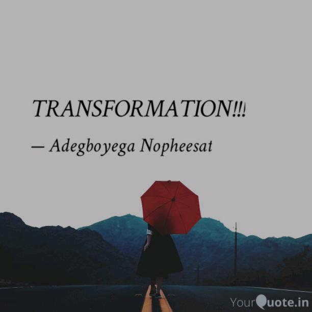 TRANSFORMATION!!!