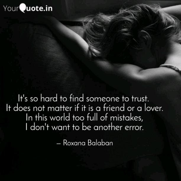 It is so hard