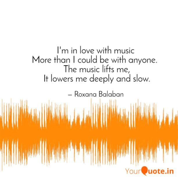 I'm in love with music
