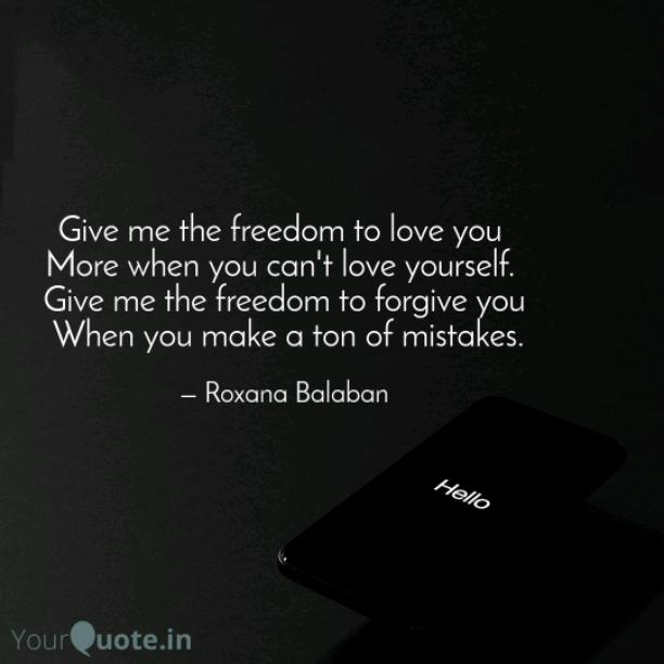 Give me the freedom
