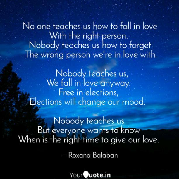 No one teaches us