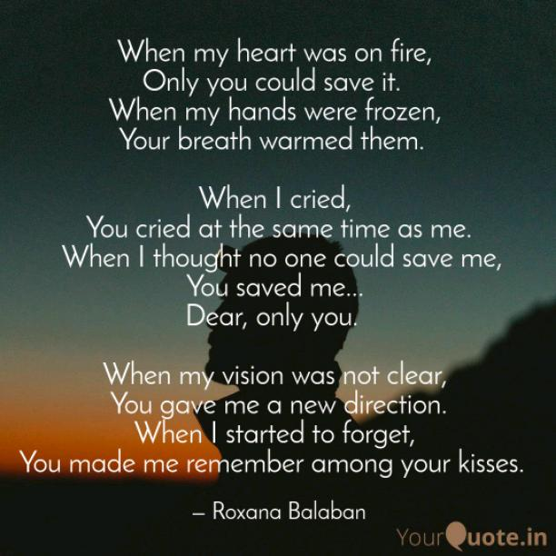 When my heart was on fire