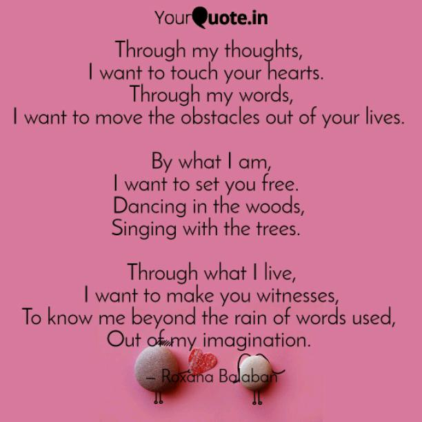 I want to touch your hearts