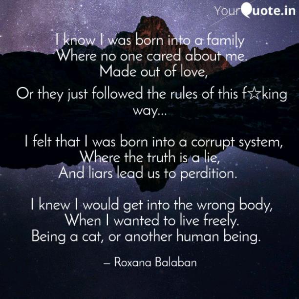 I was born into a corrupt system