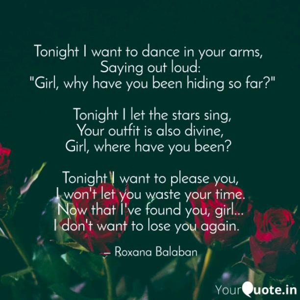 Tonight I want to dance
