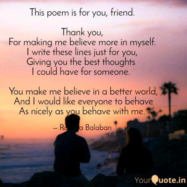 To my special friend