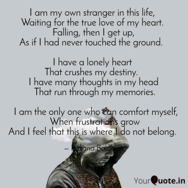 My own stranger
