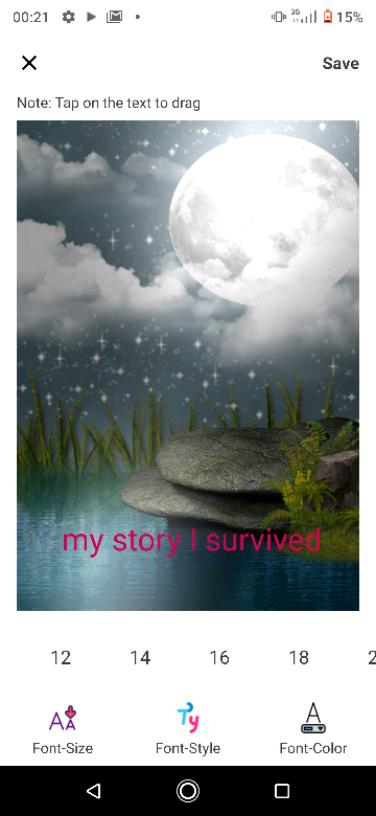 My story as i survived