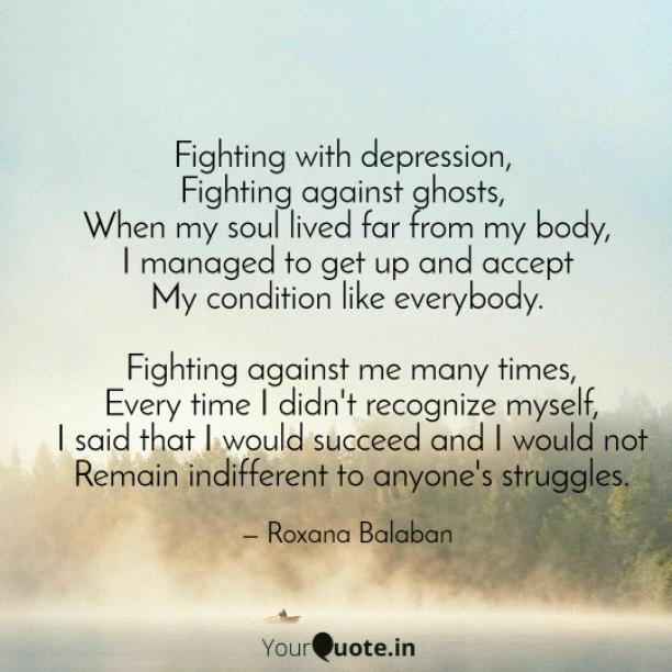Fighting with depression