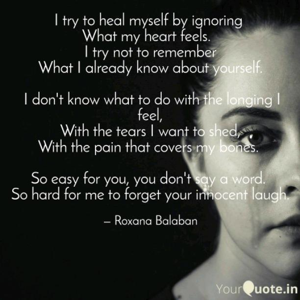 I try to heal myself