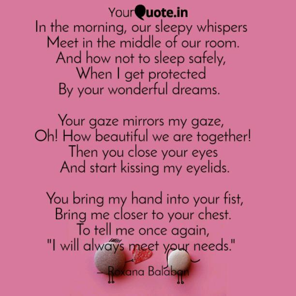 Sleepy whispers