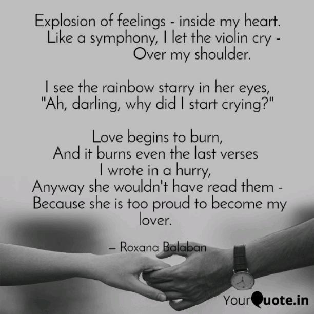 Explosion of feelings