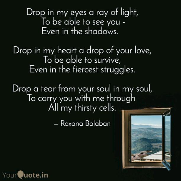 Drop in my heart