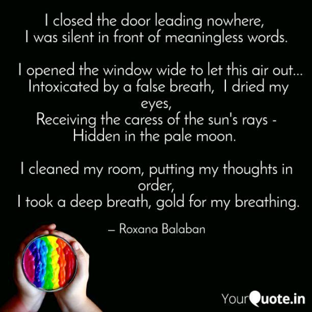 I closed the door