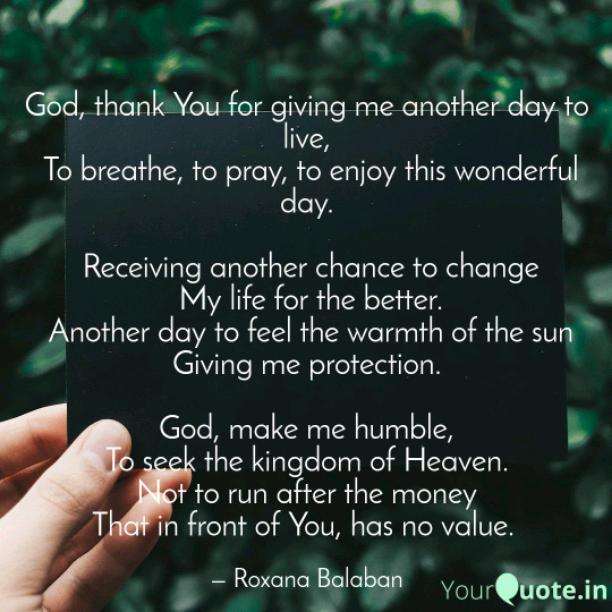 Thank you, God
