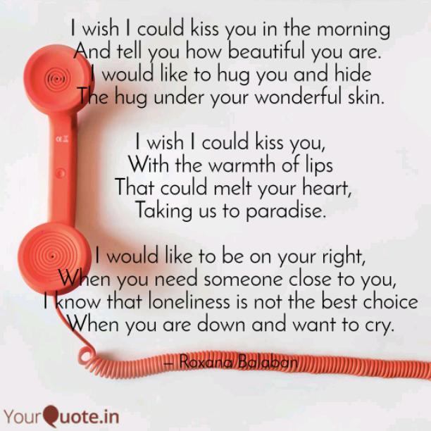I wish I could