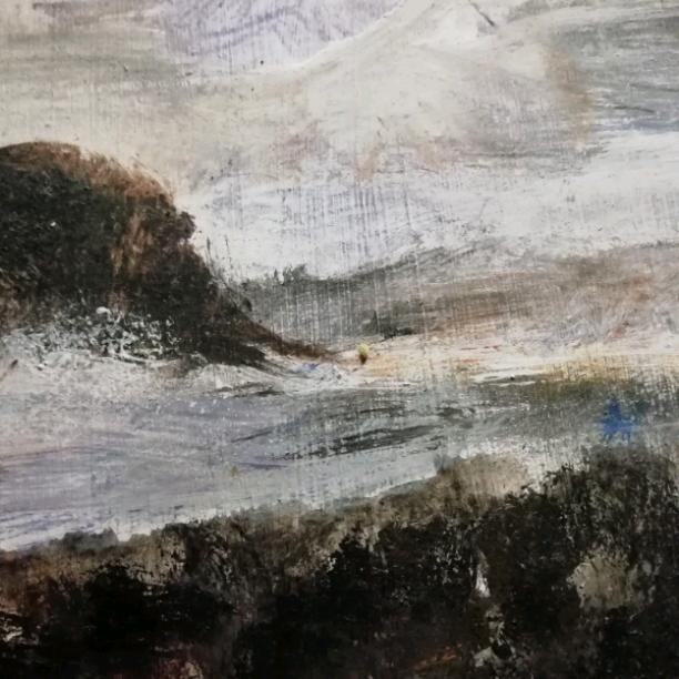 The choppy sea