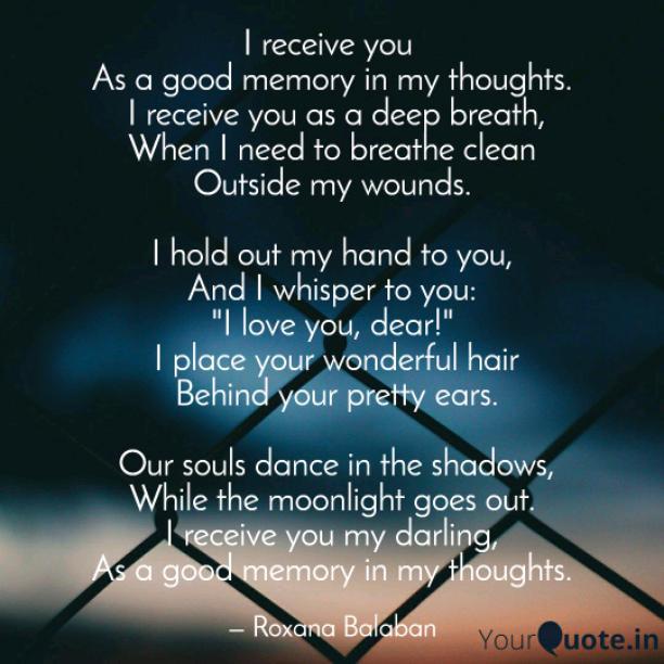 I receive you