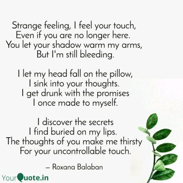 Strange feeling