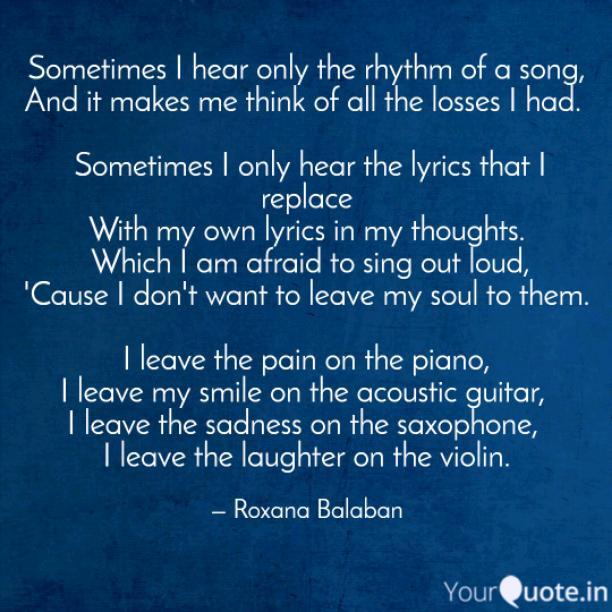 My own lyrics