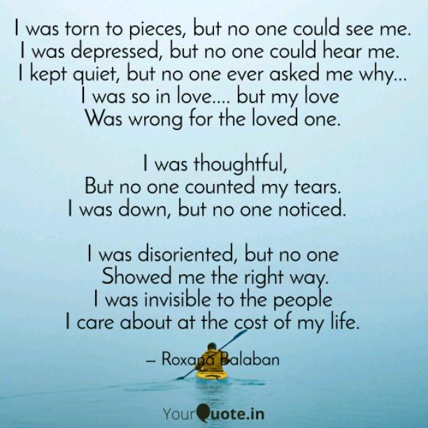 I was depressed