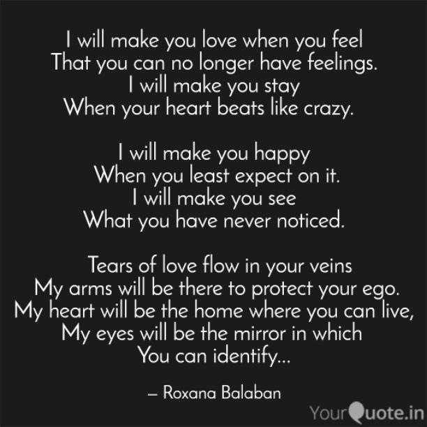 I will make you love