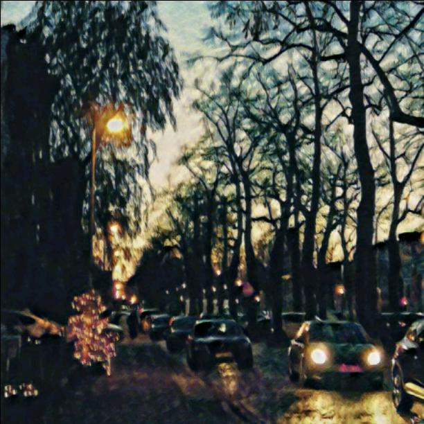 My street by night