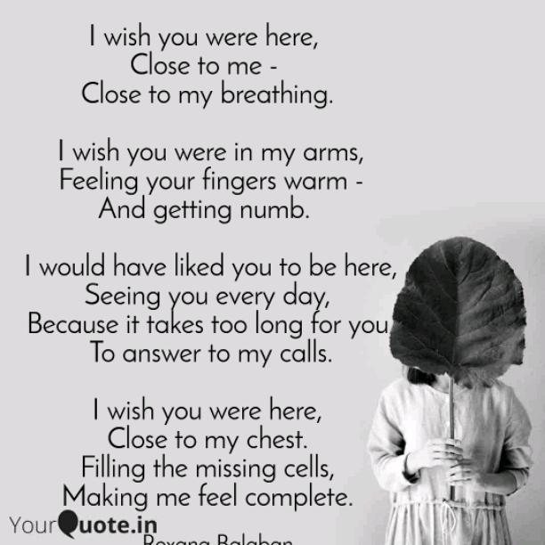 Close to me, dear
