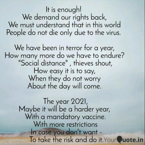 It is enough!