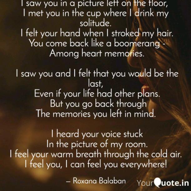 I can feel you