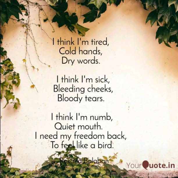 I am numb