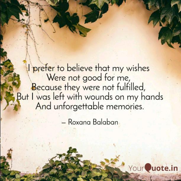 I prefer to believe