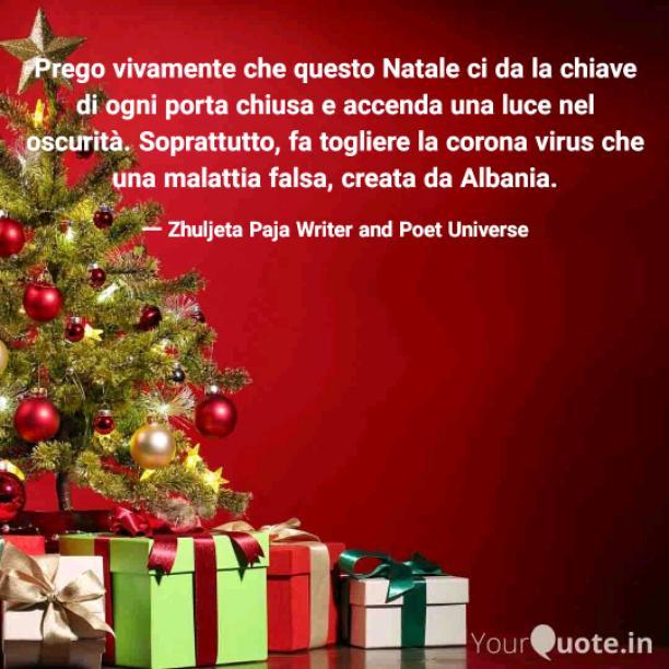 Il Natale non è un tempo né una stagione, ma un stato d'animo. Amare la pace è una buona volontà. Essere pieni di misericordia