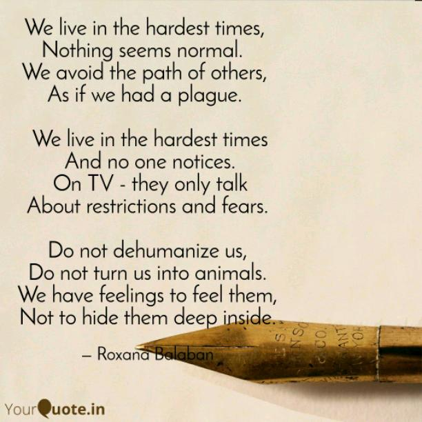 In the hardest times