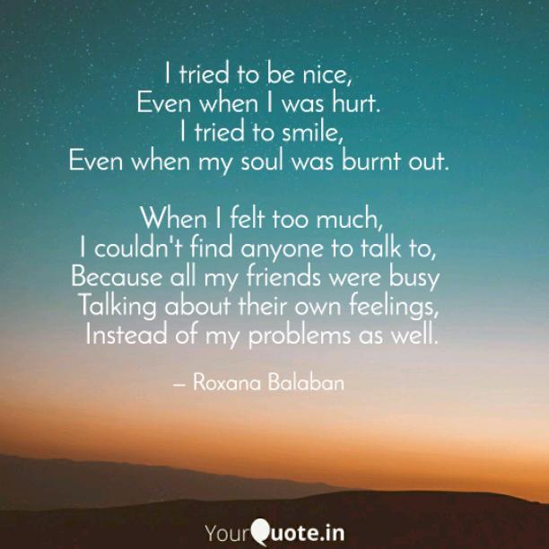 To be nice