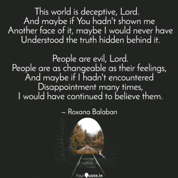 Deceptive world