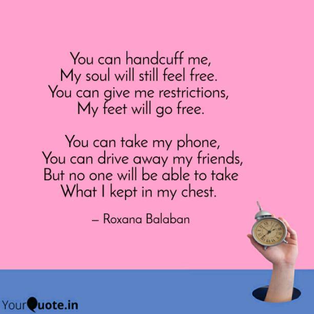 My feet will go free