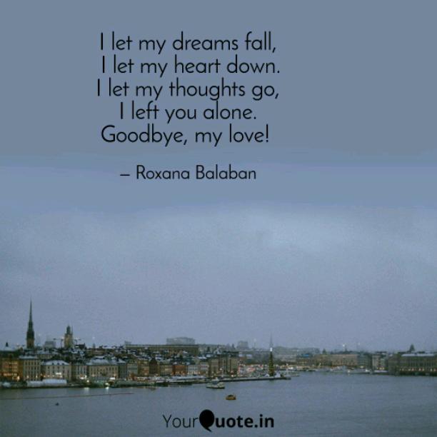 I let my dreams fall