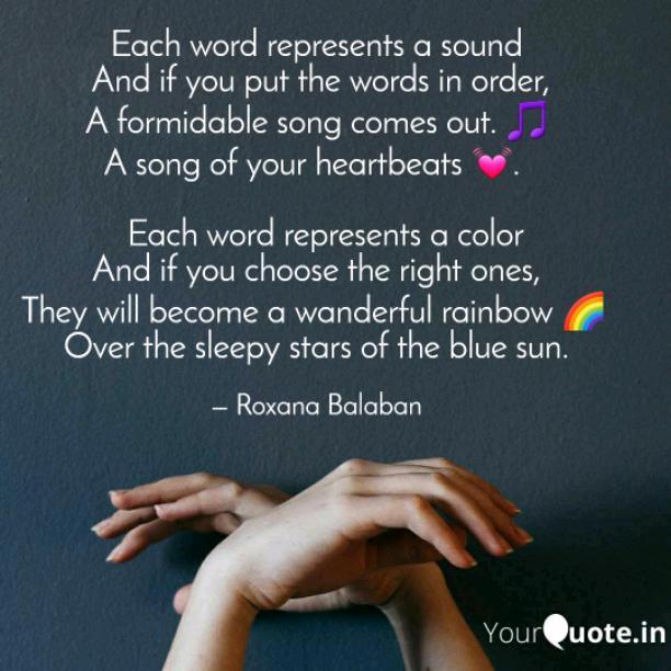 Each word