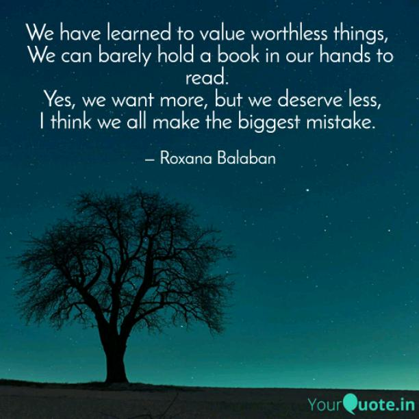 Worthless things