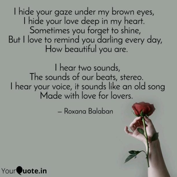 Under my brown eyes