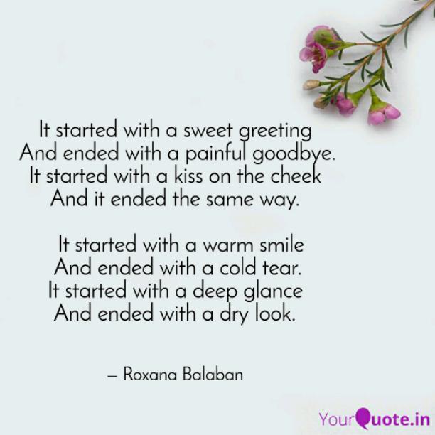 Cold tear